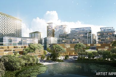 A 10,000-apartment precinct by Woods Bagot and Place Design Group is planned of Greater Springfield in south-east Queensland.