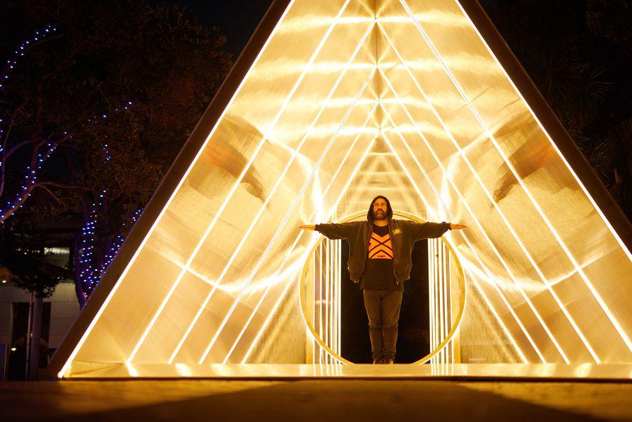 Matt Liggins inside the Vitruvian Tunnel.