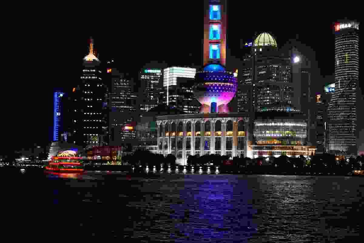 "Arriving in Shanghai is like ""driving through a pinball machine""."