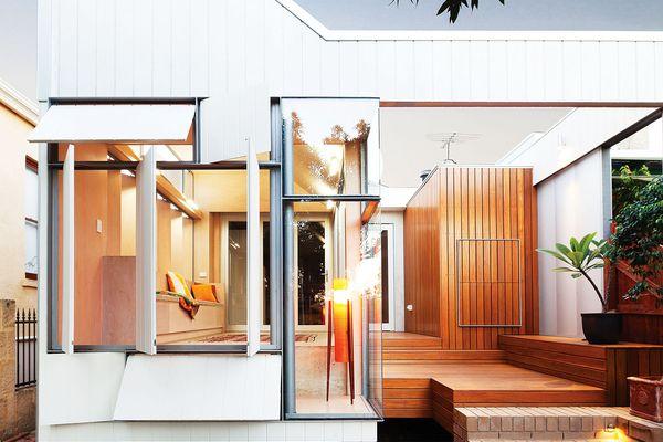 The new verandah, bathroom, deck and steps create a natural path to the garden.