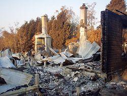 The site of destruction.