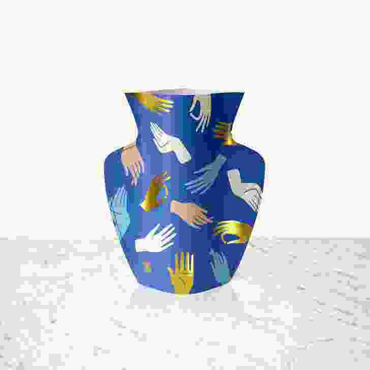Mediterranean paper vases by Octaevo.