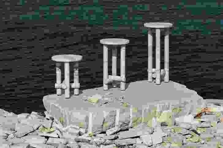 Stone Side Tables by Clement Brazille.