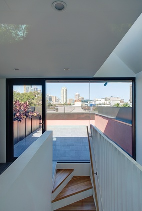 "Each house has a pair of roof terraces supported by a well-equipped laundry, rendering them ""valid and workable living rooms looking over the city."""