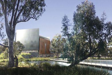 Denton Corker Marshall's design for the new Shepparton Art Museum.