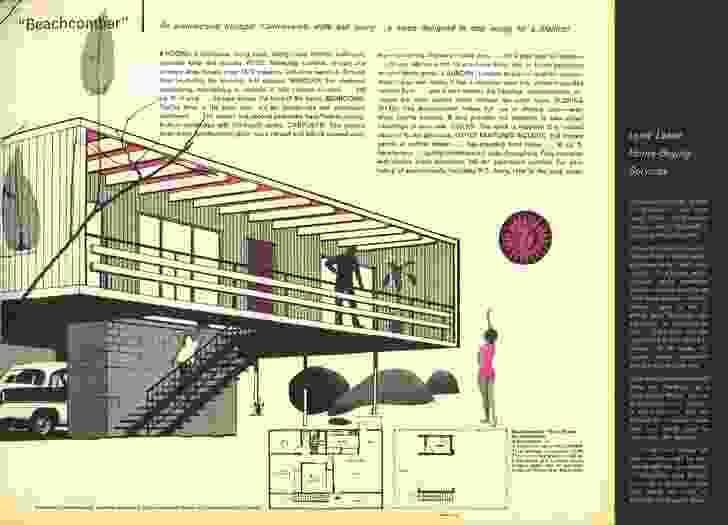 1962 magazine clipping about the (then) radical new Beachcomber house.