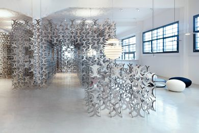 Nebula is made of over ten thousand flat aluminium plates.