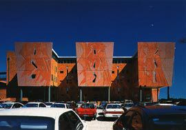 The modulated east facade of the Curtin Business