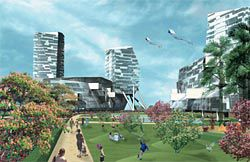 The landscape-driven entry from Project, Hargreaves Associates and Morphosis.