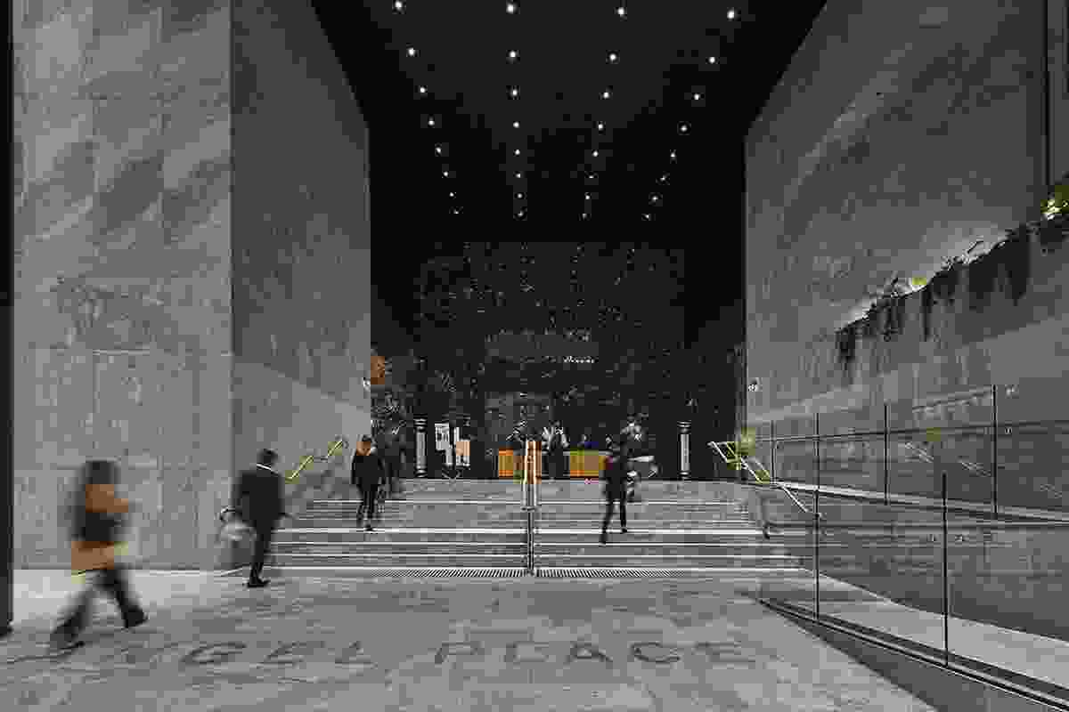 AMP Angel Place Lobby Refurbishment by Hassell.