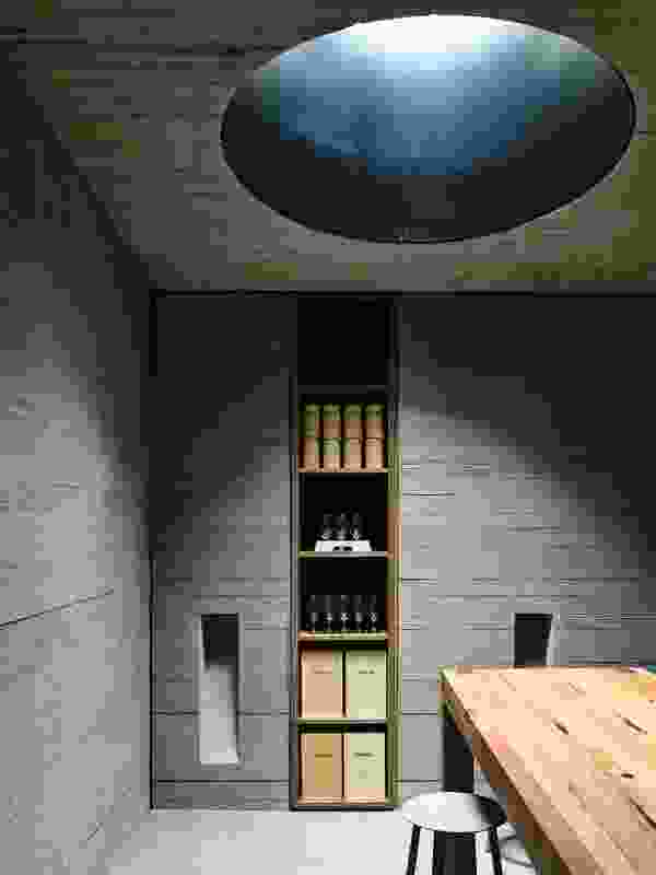 """With the deep circular """"oculi"""" letting light filter down from the vault's ceiling, visitors have a sense of being embedded far deeper in the earth than they actually are."""