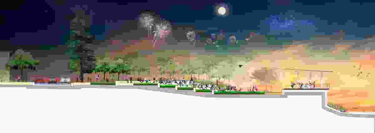 A section of the proposed Yeppoon foreshore revitalization by Taylor Cullity Lethlean.