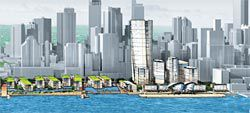 The urban waterfront design from Lend Lease design, Taylor Cullity Lethlean, JBA Urban Planning and The People for Places and Spaces.