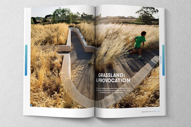 A spread from the November 2017 issue of <i>Landscape Architecture Australia</i>.