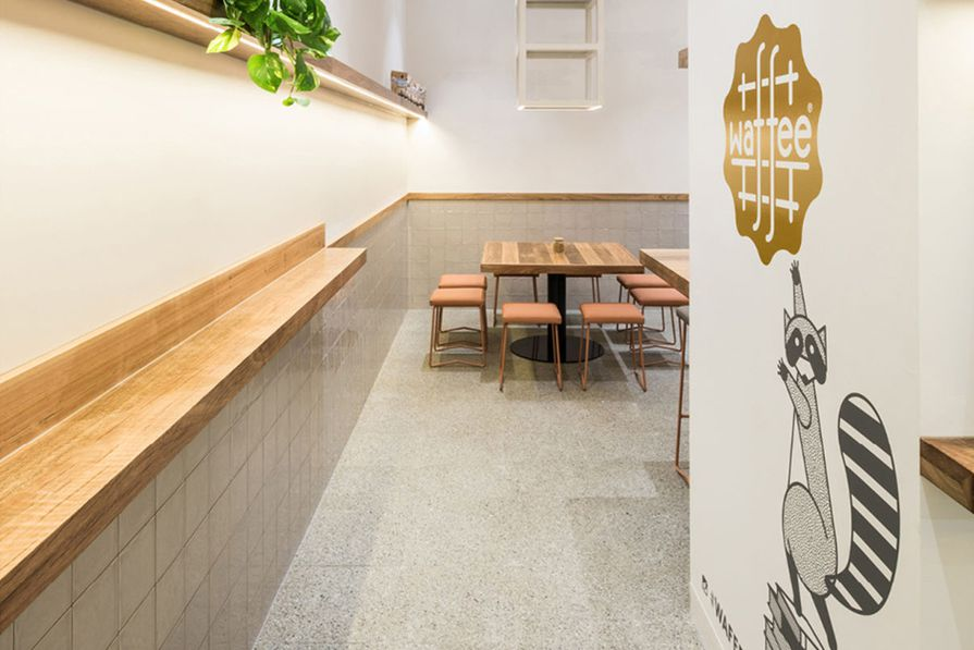 The Fibonacci Stone Terrazzo Tiles Selected For Waffee Cafe