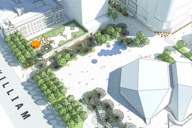 The proposed new Adelaide Festival Plaza will create a uniform-level space around the Adelaide Festival Centre.