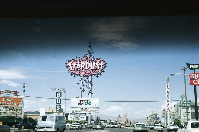 The Startdust Hotel on Upper Strip, Las Vegas, 1968.