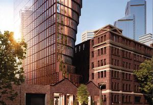 The proposed development at the former Sands and McDougall manufactory and warehouse in West Melbourne, designed by Hachem.
