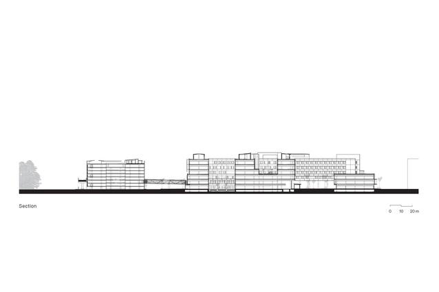 Section of Sunshine Coast University Hospital by Architectus and HDR.