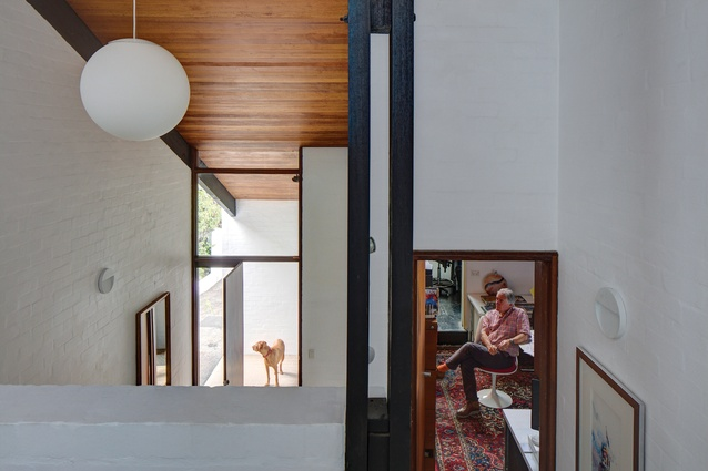 """Split levels and clerestory openings allow for """"superbly orchestrated sightlines that both reveal and conceal."""""""