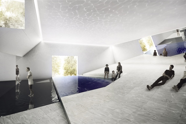 The Pool exhibition proposal for 2016 Venice Architecture Biennale by Amelia Holliday, Isabelle Toland and Michelle Tabet.