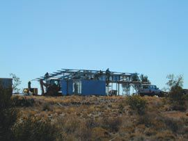 Erection of the visitor centre on-site at Patjarr.