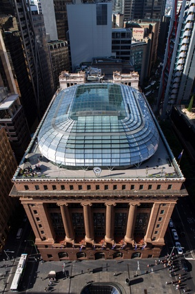 The preservation and reinvention project has included the addition of a delicate, transparent dome on the roof – the building's fifth facade.