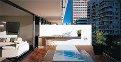 The inner-city apartment balcony.Image: Brett Boardman