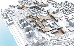 Lee & Kerry's winning entry in the international ideas competition for the central Kakolanmäki hill site, Finland.