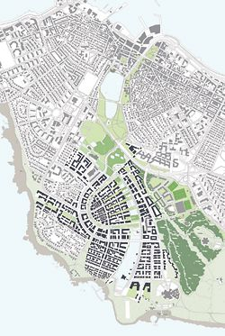 Lee & Kerry Architects' entry to the international ideas competition The Shaping of a Capital City for Reykjavik, Iceland, which received one of seven prizes.
