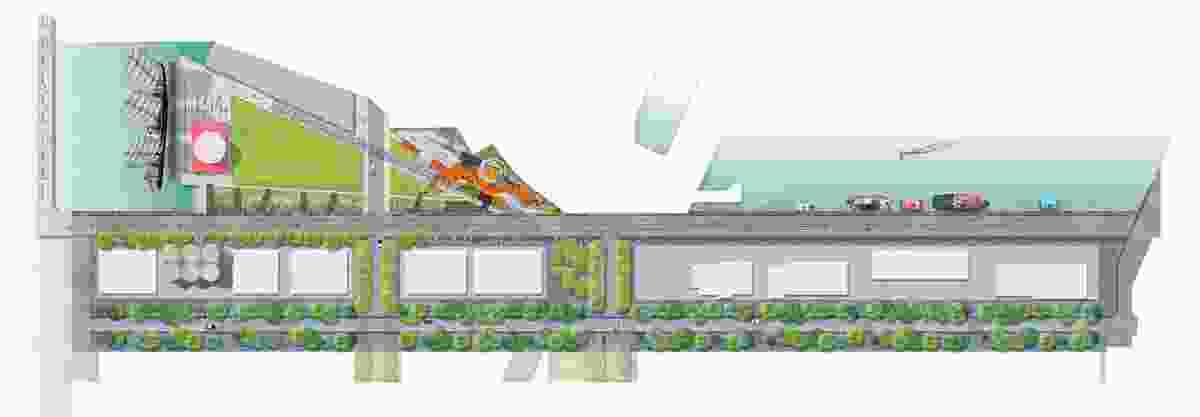 Concept Plan of Jellicoe Street, Silo Park and North Wharf Promenade.