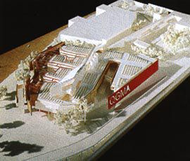 Model of the evocative, interlacing scheme by Benson & Forsyth and Peddle Thorp. Photos Richard Stringer.