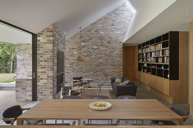 A lot of effort has gone into concealing the complexity of the house's components, to make the main informal living space seem simpler than it is.