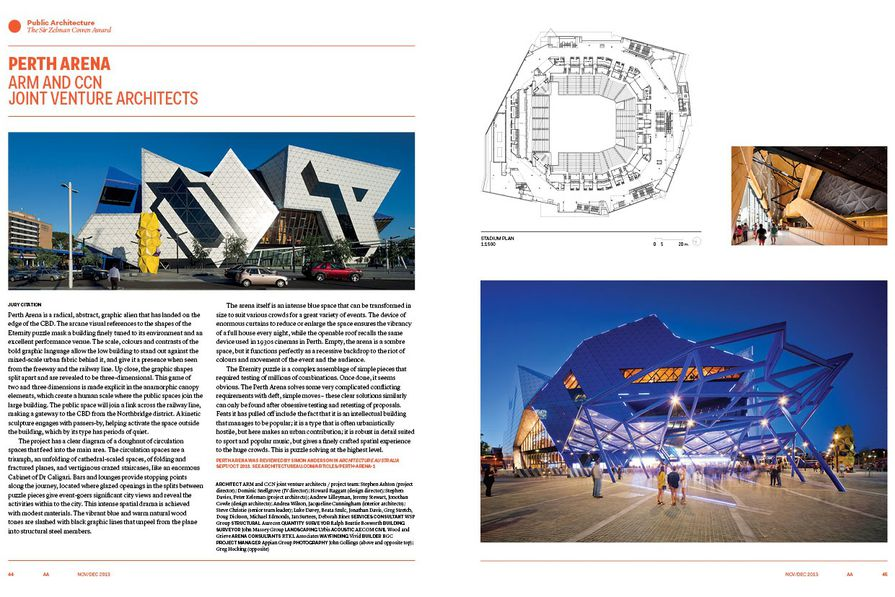 Perth Arena by ARM and Cameron Chisholm Nicol.