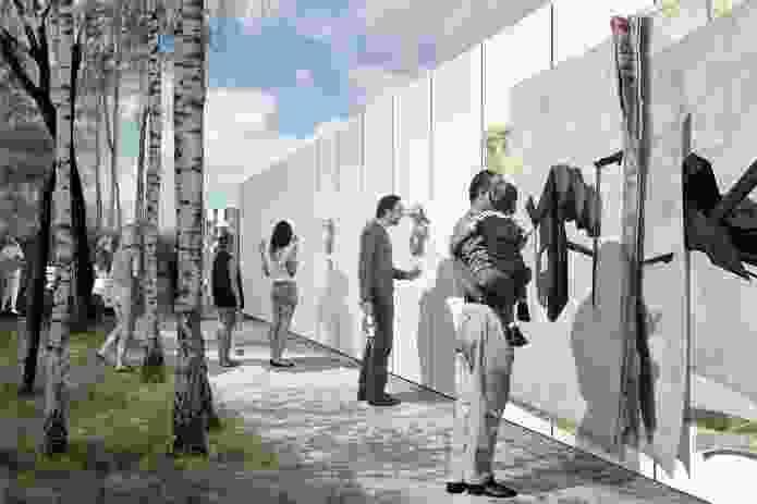 The Peephole Hoarding – The AU: Monica Earl, Daniel Fink, Tamara Frangelli, Nic Moore, Gabriele Ulacco with Suzanne Boccalatte of Boccalatte.