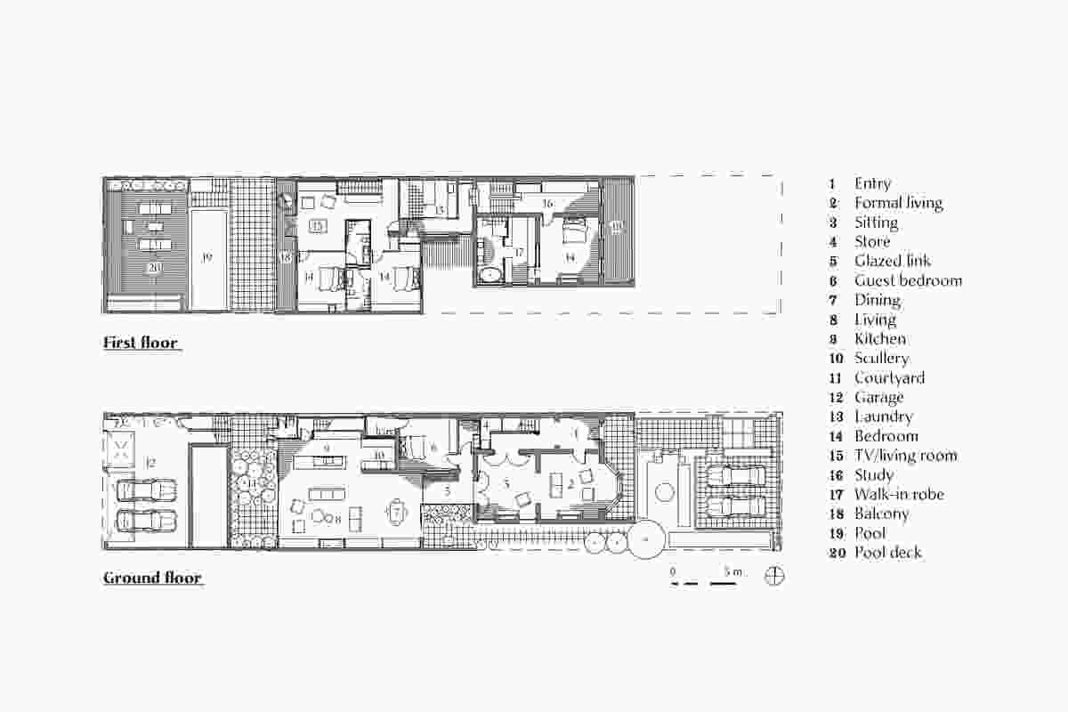 Plans of East Melbourne Terrace by Wolveridge Architects.