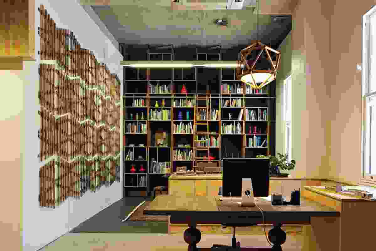 Front entry and library. Artwork: Bevan Honey.