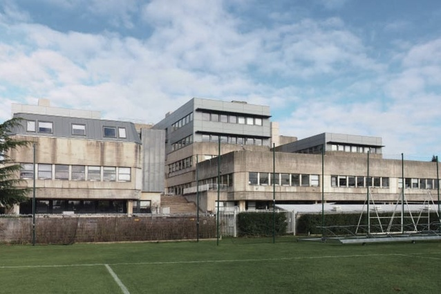 The Existing South West View Of The Tinbergen Building, Designed By UK  Architect Sir Leslie