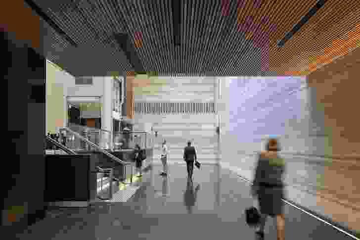 259 Queen Street Main Lobby Refurbishment by Cox Architecture and Ruth Woods Architect.