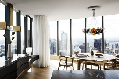"The apartment's floor plan underwent ""radical surgery"" to make the most of the views."