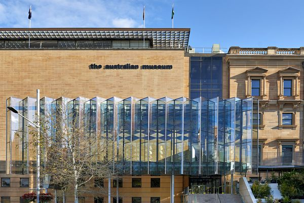 The new entrance to the Australian Museum in Sydney by Neeson Murcutt and Joseph Grech (architects in association).
