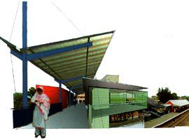 Montage of the Lakemba Railway Station.