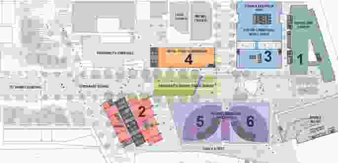 Masterplan of Parramatta Square.