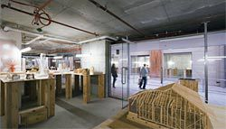 Overview of the exhibition with Timber Framing by Virginia Wong See in the foreground. Image: Brett Boardman