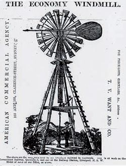 Advertisement for the Economy Windmill, one of  a range of windmills collected for the installation.