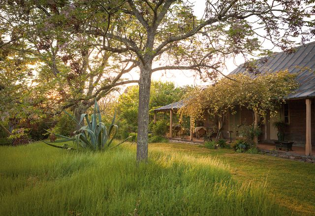 The colonial garden at Cox's Cottage, at Mulgoa, west of Sydney, at the foot of the Blue Mountains.