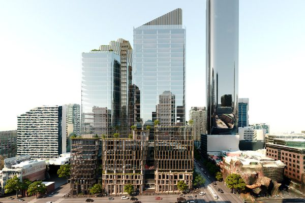 The 34-storey mixed-use development at the south-western end of Collins Street, designed by Cox Architecture and Gensler Architecture.