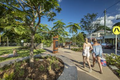 Palmwoods New Town Square by Sunshine Coast Council.