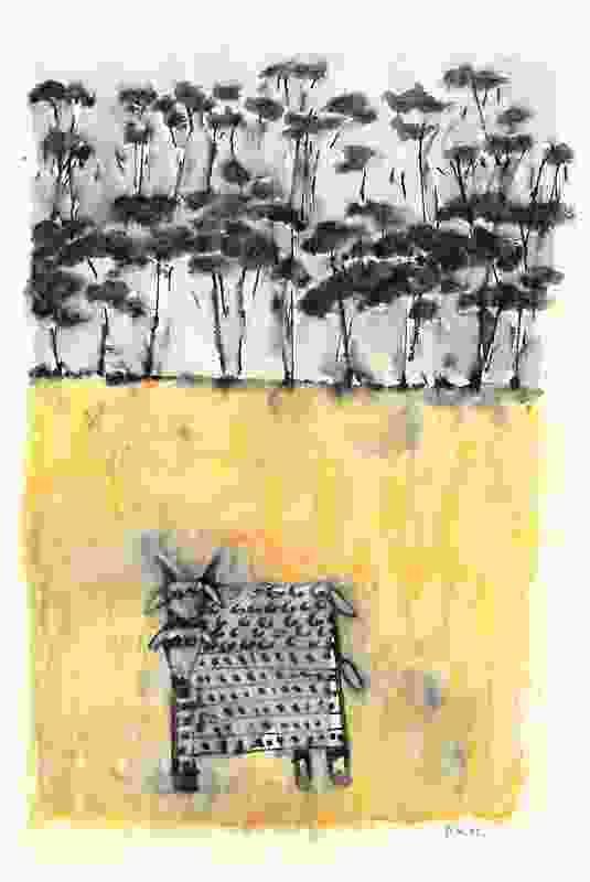A little landscape sketch by 2013 Gold Medallist Peter Wilson.