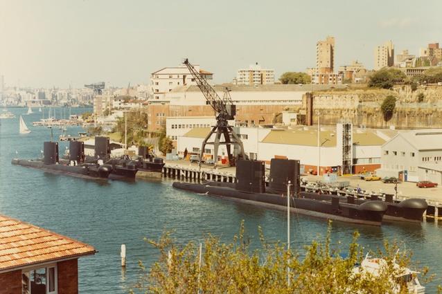 <i>Oberon</i>-class submarines alongside HMAS Platypus.